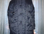 Vintage 80's - Haband for Her - Women's - Dark Blue or Navy - Weather Proof - Snap Front - Winter - Coat - New Dead Stock - Ladies size 16