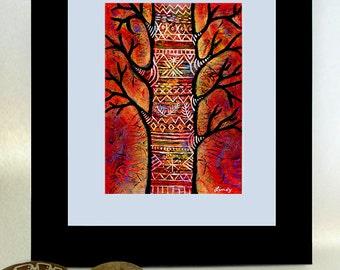 "ON SALE - Original, acrylic ""Peace Tree"" painting"