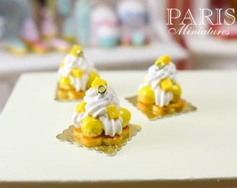 Mango St Honoré - Miniature French Pastry in 12th Scale