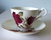 Royal Ascot  Bone China Tea Cup and Saucer England Red Roses