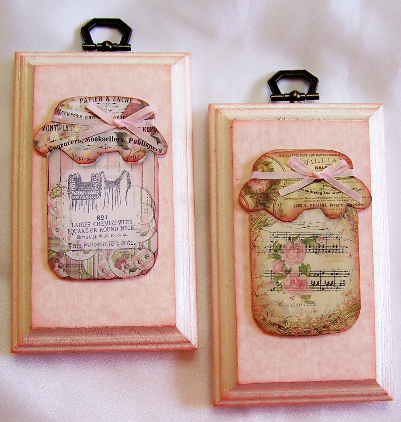 Wall Decor With Mason Jars : Mason jar vintage decor home wall mixed media