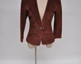 1970s vintage leather jacket womens vintage clothing suede western