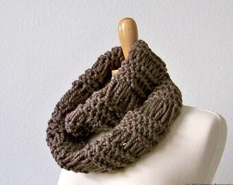 Knitting PATTERN, Knit Infinity Scarf Pattern, Knit Cowl Scarf Pattern, Circle Scarf Pattern, Knit Neck Warmer Pattern
