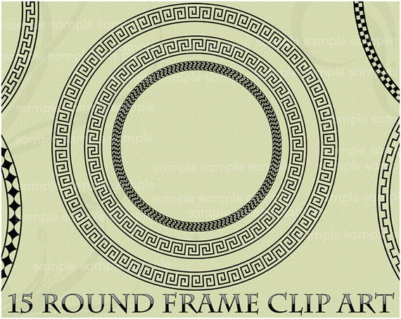 Circle Frame Clip Art Clip Art Greek Key Circle