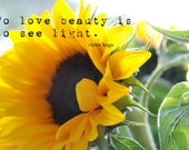 Sunflower Photography, Digital Download Photograph, Typography Art, Word Quotes, Printable Art, Motivational Art, Inspirational Quote