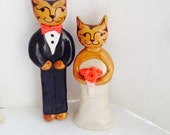 Large Custom Cat Cake Topper with custom colored flowers and bowtie