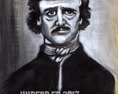 Dictionary Painting EDGAR ALLEN POE Print by Undead Ed