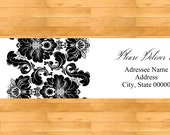 Damask Wrap Around Address Labels - Wedding address labels