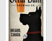 GREAT DANE Black Custom - Personalized - Great Dane Brewing Company graphic art giclee print SIGNED