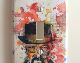Breaking Bad Walter White Decorative Light Switch Cover Breaking Bad Wall Art Room Decor