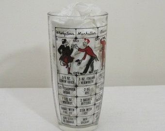 Vintage Hazel Atlas Drink Shaker Glass - No Top