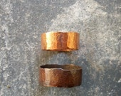 Pipe Dream - Unisex Solid Copper - Recycled Copper Hammered Ring - Thick Band - Eco-Friendly - For Him - Unique Gift