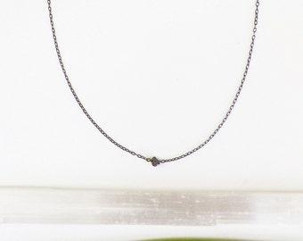 Raw Black Diamond Necklace