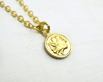 CLOSING SALE Gemini Tiny Zodiac Necklace / Choose Your Length