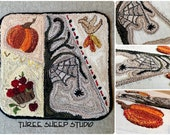 Punchneedle Pattern - Cobweb Crazy Quilt Block - #PN520 - Needlepunch Embroideery