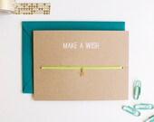 Make A Wish - Charm Card - Star - Gold - friendship necklace & bracelet - good luck - bridesmaid - birthday - best friends - bff - love