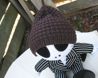 CLEARANCE Baby Chocolate Pinecone - Handknit baby hat