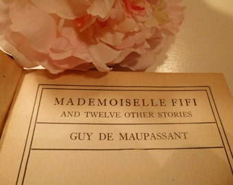 1917 Edition Mademoiselle Fifi by Guy de Maupassant / The Modern Library