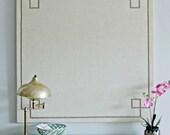 Cork Board Bulletin Board 30x30 Linen and Nailheads Pin Board