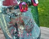 Butterfly Jewelry, Butterfly Earrings, Vintage Earrings, Pink Earrings, Swarovski Earrings, Dragonfly, Dragonfly Earrings, Bird Earrings