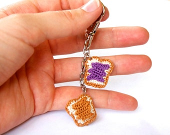 Peanut Butter & Jelly Keychain