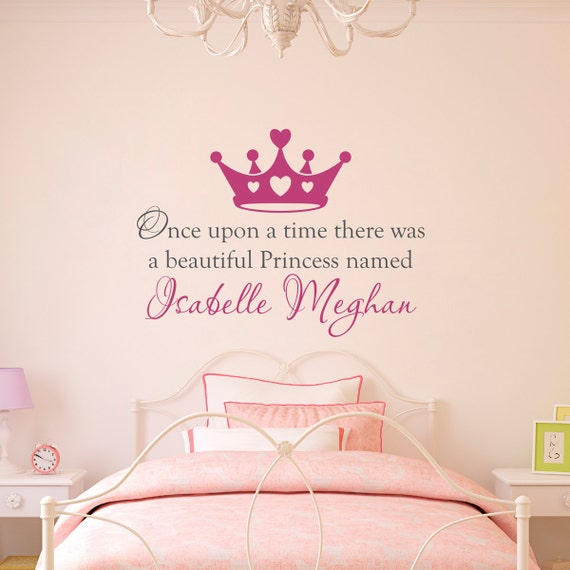 Princess Girl Quotes: Once Upon A Time Wall Decal Personalized Name Decal