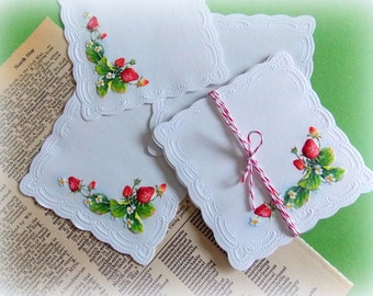 Mini Vintage Strawberry Note Cards