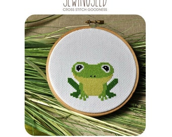 Frog Cross Stitch Pattern Instant Download