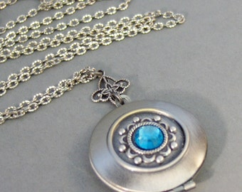 Victorian Spirit,Locket, Antique Locket,Silver Locket,Heart,birthstone,Swarovski,Ruby,Sapphire,Aquamarine,March,April valleygirldesigns