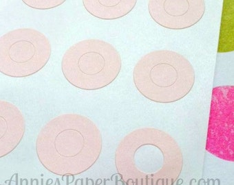 144 Light Pink Circle Reinforcements - Labels, Stickers - Hole Reinforcements, Pastel Pink