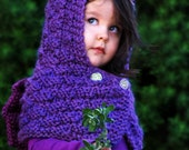 KNITTING PATTERN-The Dragon Hooded Cowl (Baby,Toddler,Child,Adult sizes)