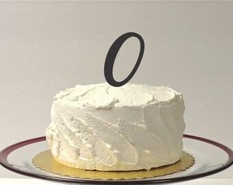 MONOGRAM INITIAL O- Wedding Cake Topper  Personalized Monogrammed Wedding Cake Topper Custom Cake Topper Any Letter
