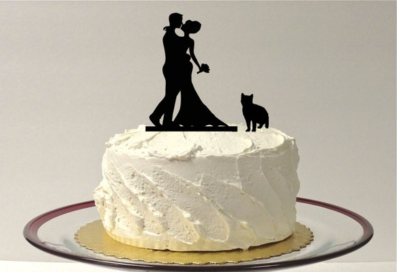 wedding cake toppers with dog and cat made in usa cat groom silhouette cake topper with 26630