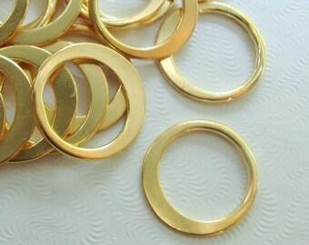 18K Gold Sterling Silver Eternity Circle Link, Halo, 14mm, 2 pcs, Great for Macrame bracelet