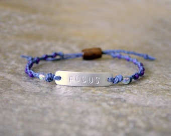 Word of The Year Bracelet Custom ID Style Adjustable Aluminum Non Tarnish Bracelet Made to Order