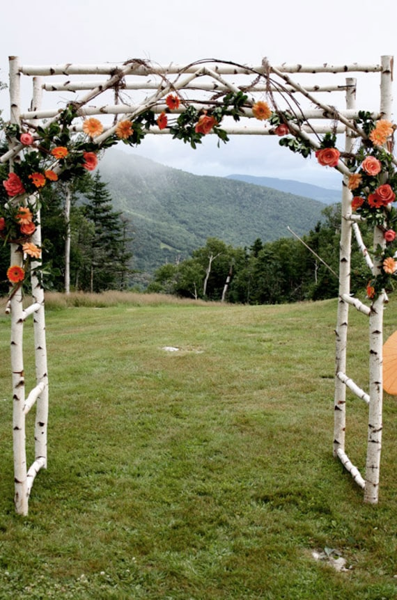 Chuppa Wedding Arch Arbor Birch Poles