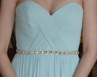 Rhinestone Bridal Belt, Bridesmaid Belt,Wedding Belt, Bridal Sash, Bridesmaid Sash, Rhinestone Wedding Belt, Diamante Bridal Belt