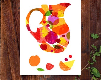 Summer Sangria - Spanish Wine Art / high quality fine art print