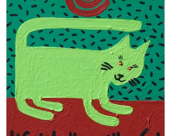 Life is Better With a Cat art print copyright Hillary Vermont