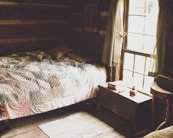Fine Art Photograph - Appalachian Scene - Bedroom Cabin