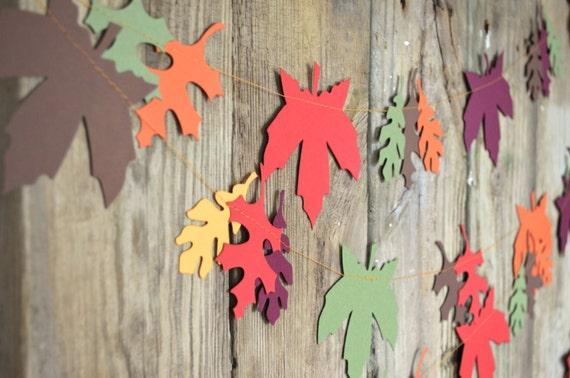 Autumn Leaves Banner - festive fall garland