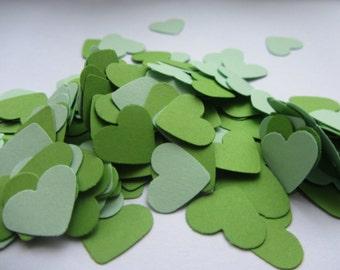 Wedding confetti hearts - mint green heart confetti - paper confetti - card stock confetti - green confetti - weddings