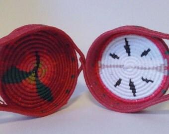 Apple Coiled Linen Basket Pocketbook