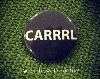 CARRRL the walking dead funny pinback button Carl Rick Grimes