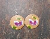 Painted Butterfly Earrings, Wooden Painted Earrings - Clearance