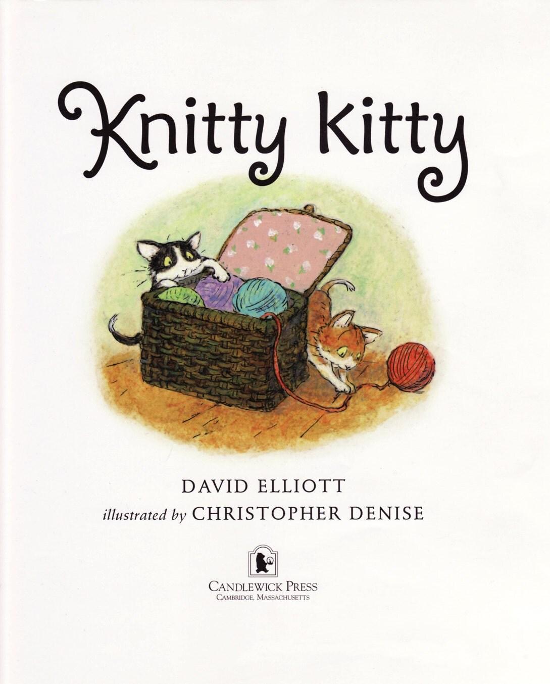 Original illustration for Knitty Kitty