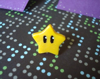 Mario Bros. inspired Super Star STUD Earrings (Made to Order)