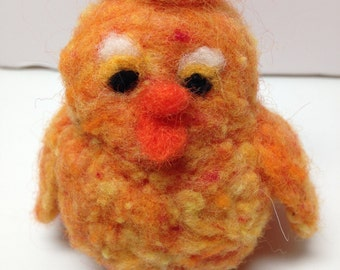 Fuzzy little needle felted Spring chick