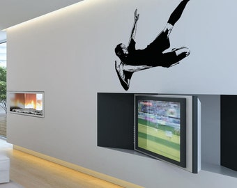 Vinyl Wall Decal Sticker Soccer Player 5071s