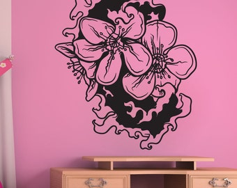 Vinyl Wall Decal Sticker Water Cherry Blossom 1446m